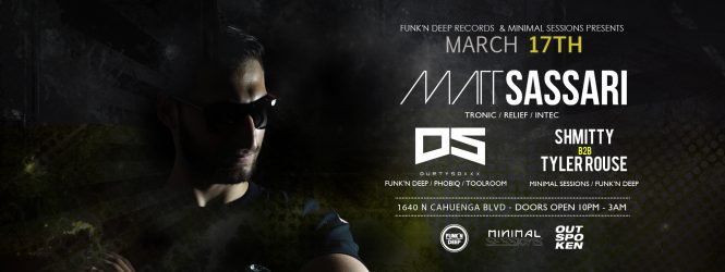 [3.17] Minimal Sessions at Outspoken w/ Matt Sassari (Just Announced!)